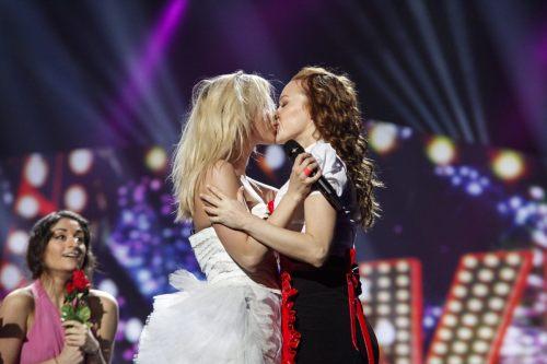 pride kiss