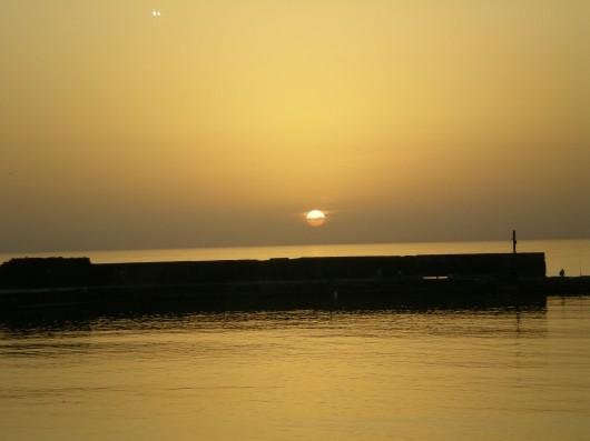 שקיעה בחוף קיסריה Sunset at Caesarea Beach