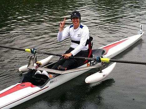 מורן סמואל חותרת פארלימפית זוכת מדליית זהב