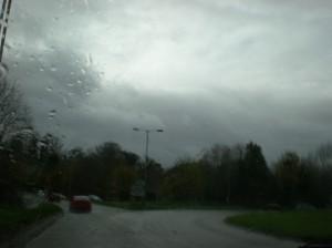 יום אפור וגשום