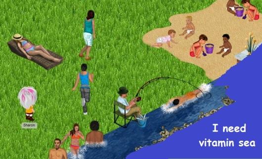 חוף ים ויטמין סי Beach vitamin sea