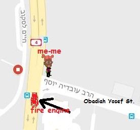 צומת עובדיה יוסף וכביש 4 Obadiah Yosef Street & road 4 jucnction