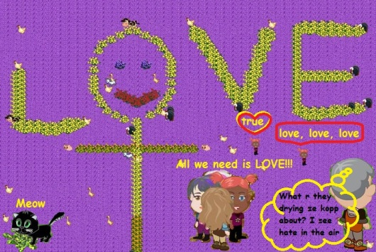 אהבה!!! All we need is LOVE