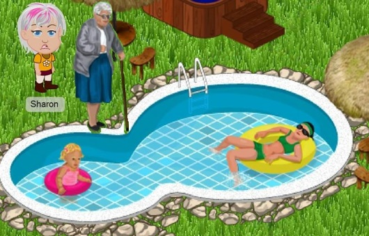 סבתא נפלה למים Grandma fell into the water