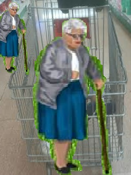 זקנה בסופרמרקט An old lady in the supermarket