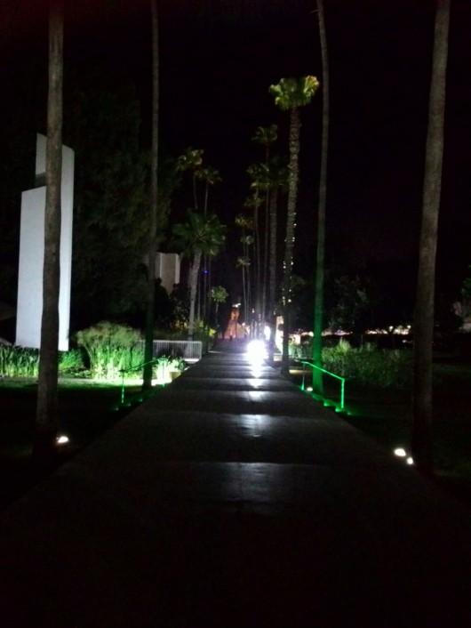 גן המייסדים בחדרה בלילה Gan Hameyasdim in Hadera at night