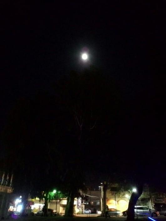 """ירח מלא ט""""ו בשבט ה'תשע""""ח Full moon on Tu BiShvat 5768"""