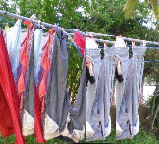 כביסה על חבל Washing on the line