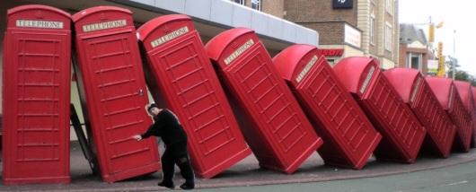 תא טלפון אדום Red phone booth