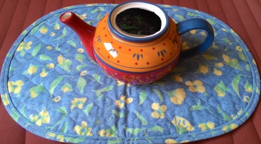 קומקומון חליטת תה Teapot with brewed tea