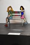 נשים יושבות על הספסל Women sitting on the bench