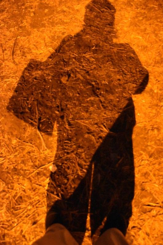 הצלמת כדימוי של הצל של עצמה The photographer as an image of her own shadow