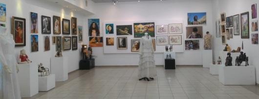 """תערוכת אישה מוזה מבט כללי Exhibition """"Woman Muse"""" overview"""