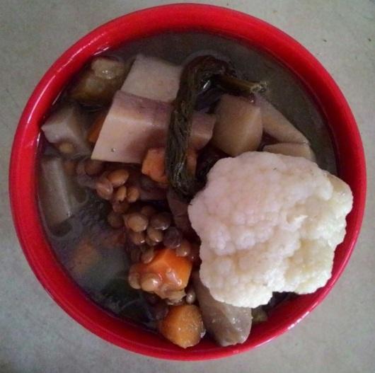 מרק ירקות עשיר Rich vegetable soup