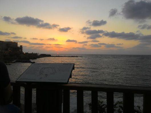 שקיעה בנמל קיסריה Sunset at Caesarea Harbour