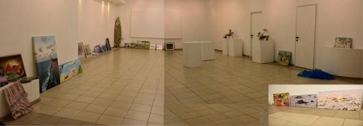 הכנות לקראת התערוכה Preparations for the exhibition