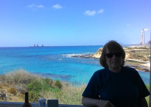 מבט מהצוק אל חוף אולגה A view from the cliff to Olga beach
