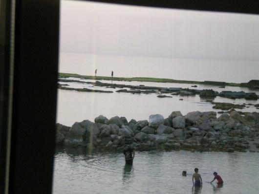 נמל קיסריה, מבט מהמסעדה Caesaria port, view from the restaurant