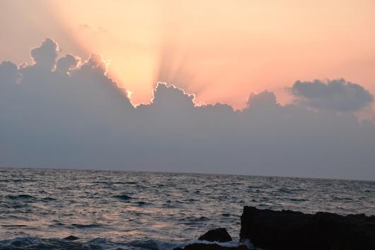השקיעה היתה מהממת   The sunset was stunning