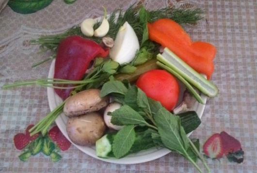 ירקות לסלט Vegetables for salad